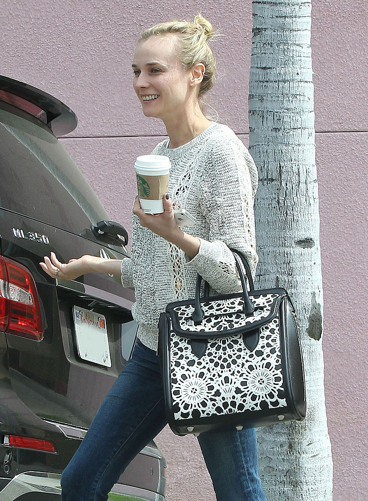 Diane Kruger smiled after grabbing coffee in LA on Wednesday.
