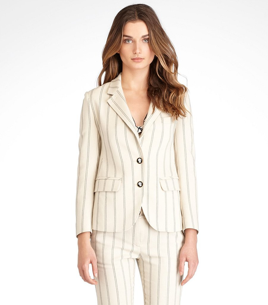 Swap out your black blazer for something lighter this Spring, like this superchic Tory Burch Pennie striped jacket ($128, originally $425).