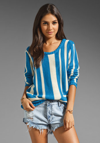 One Teaspoon Showd Striped Pullover