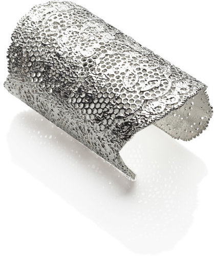 Vintage Lace Cuff in Silver