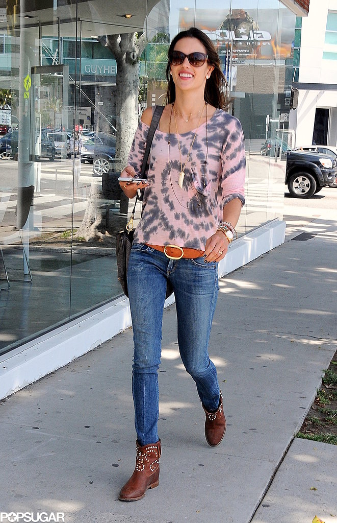 Alessandra Ambrosio Shops and Smiles in Beverly Hills