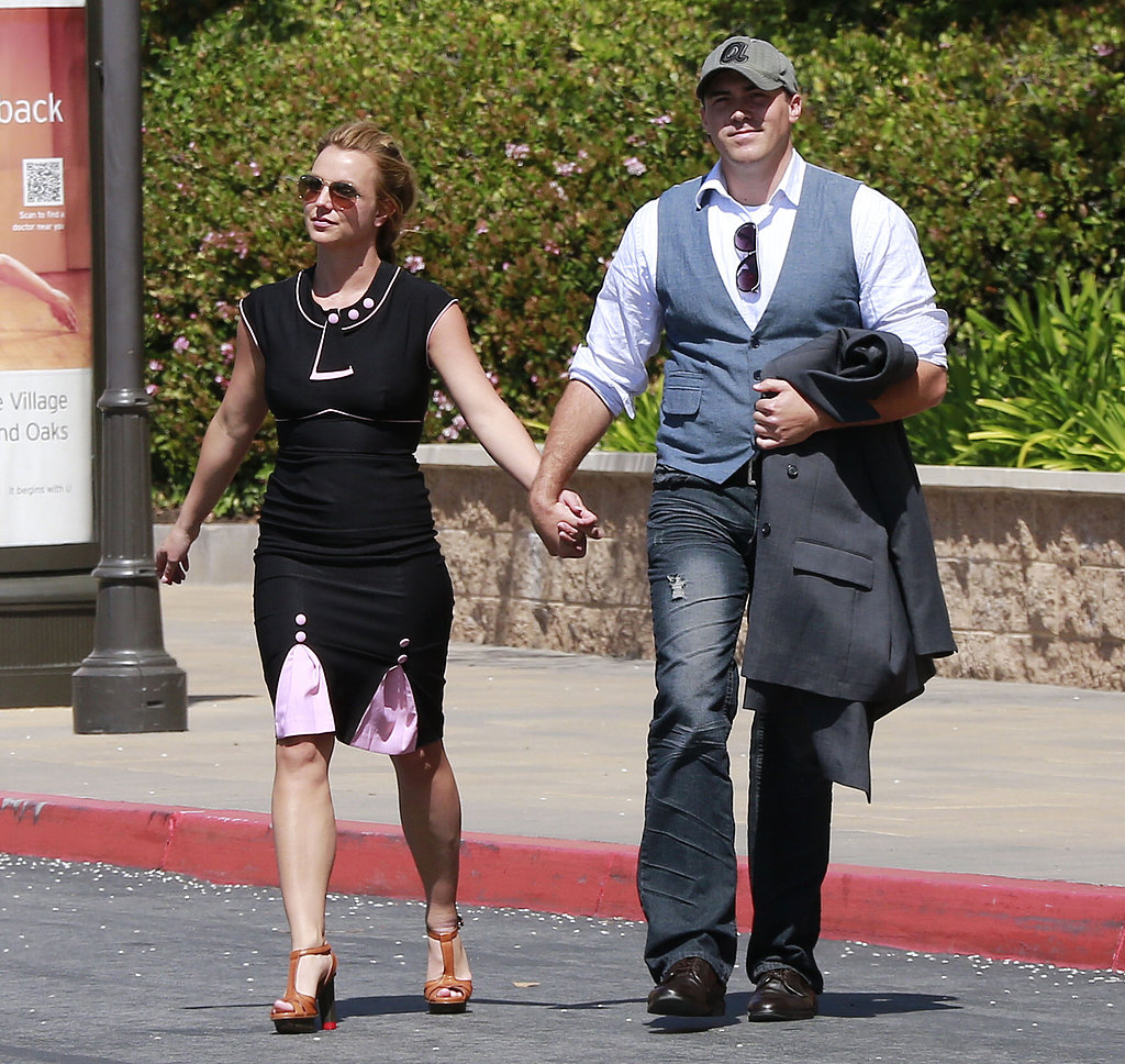 Britney Spears and David Lucado left the mall together in LA.