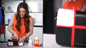 Tap Into Spring's Checkerboard Trend With This DIY Checkered Bag!