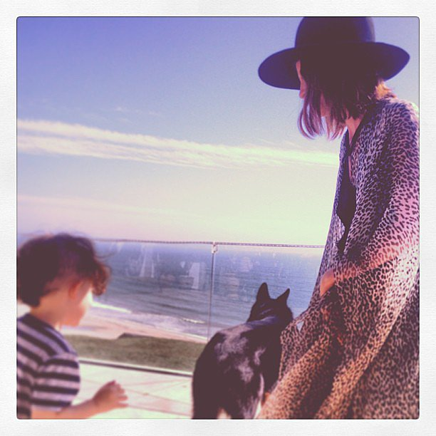Nicole Richie spent some time on top of the world with little Sparrow. Source: Instagram user nicolerichie
