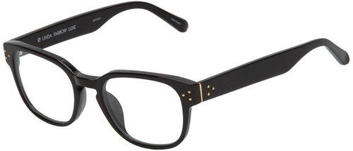 Linda Farrow Luxe round frame glasses