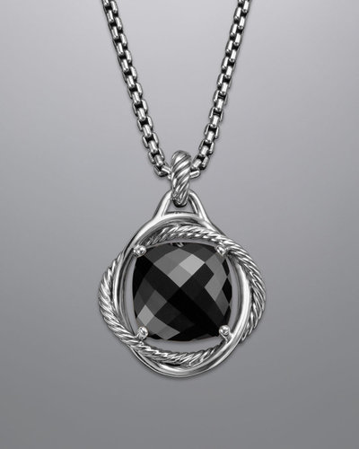 David Yurman Infinity Enhancer,Black Onyx, 17mm