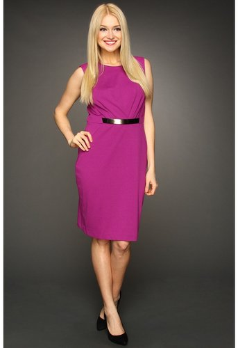Calvin Klein - Belted Dress (Jewel) - Apparel