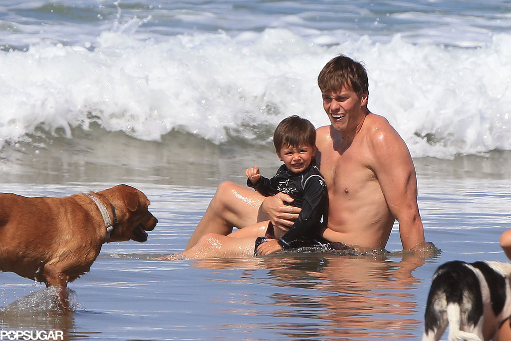 Tom Brady went shirtless.