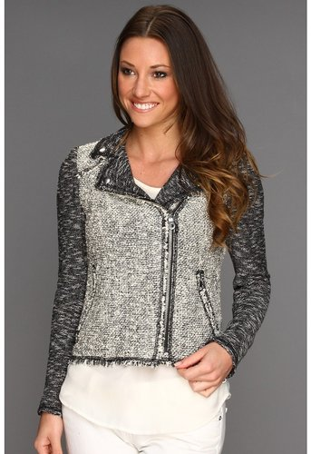 Rebecca Taylor - Tweed Moto Jacket (Black/White) - Apparel