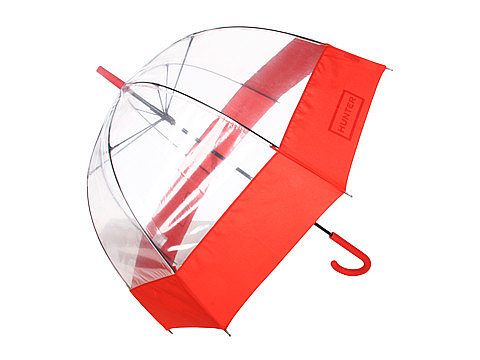Add a bright splash of red to your rainy-day look with this Hunter bubble umbrella ($48).