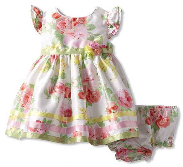 With satin ribbon trim and a bow at the back, Sweet Heart Rose's Floral Easter Dress ($32) is an adorable, more traditional option.