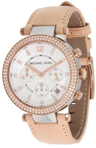 Michael Kors - MK5633 - Sport Parker Chronograph (Rose Gold/Tan) - Jewelry