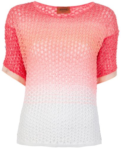 Missoni lace knit top
