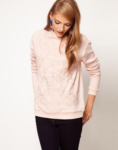 ASOS Pretty Applique Sweatshirt