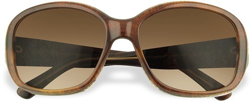 Prada Signature Temple Plastic Sunglasses