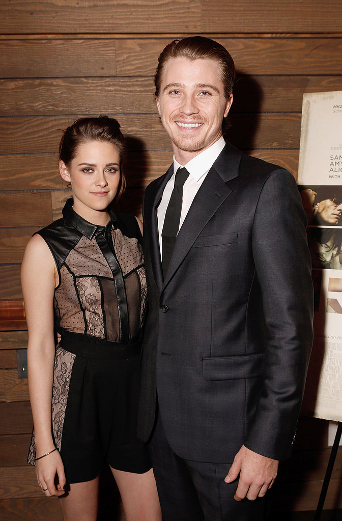 Kristen Stewart posed with her On the Road costar Garrett Hedlund at their LA premiere in December 2012.