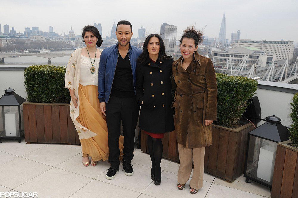 Salma Hayek and John Legend were joined by Sharmeen Obaid-Chinoy and Mariane Pearl.