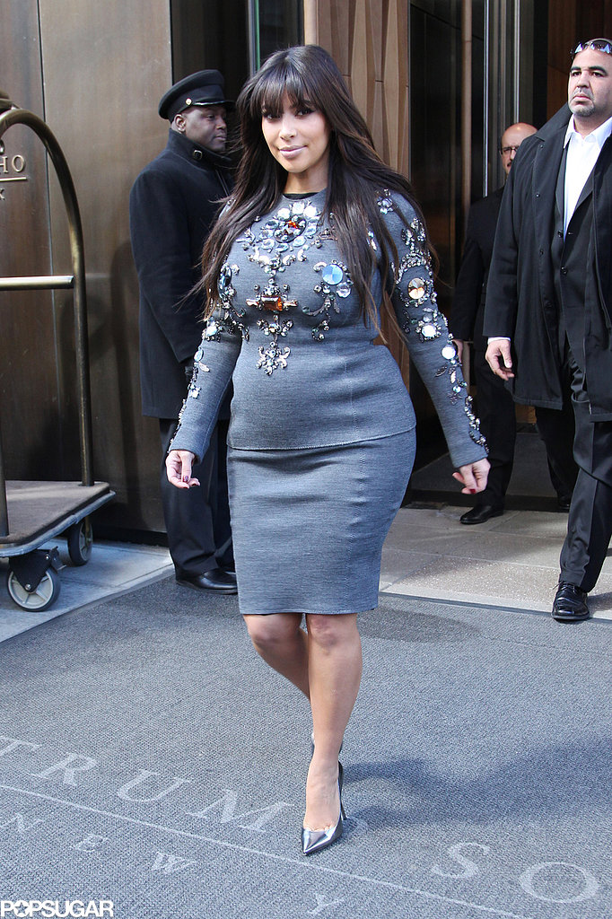 Kim Kardashian Adds Sparkle to Her Latest Maternity Look