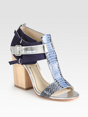 It's finally time for sandals! This pair of Carri sandals ($350) from Elizabeth and James are sturdy enough to walk around the city in, but fashionable enough for any occasion. And I love the play between the soft navy and the textured metallic — they're the new neutrals.  — Melissa Liebling-Goldberg