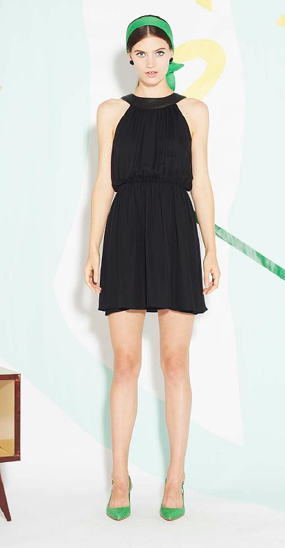 This Alice + Olivia moment proves that with just a couple pops of color, you can really liven up your LBD.