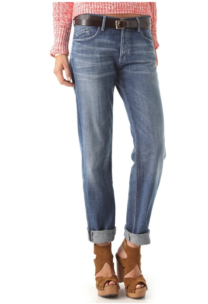 It makes sense why Goldsign would name this style Mr. Right Jeans ($244). Just look to the boyfriend-inspired silhouette, complete with subtle distressing, for a go-to pair of denim that actually makes even the most basic of outfits look relaxed, slouchy (but never sloppy), and effortless . . . it's just right.  — Marisa Tom