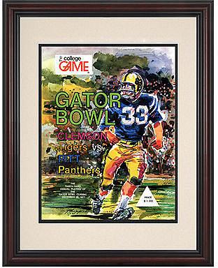 Mounted Memories Wall Art, Framed Pitt vs Clemson Football Program Cover 1977