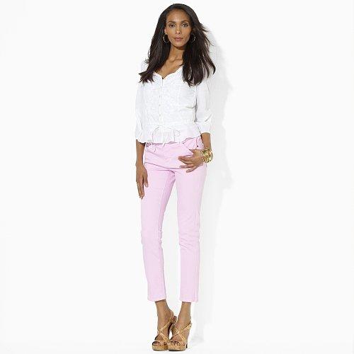 Ralph Lauren Slim-Fit Straight Ankle Pant