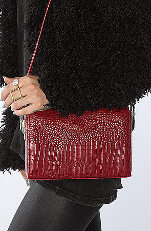 Nila Anthony The Paper Thin Clutch in Burgundy