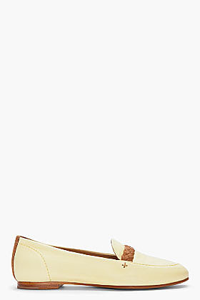 RAG & BONE yellow leather Saville Loafer