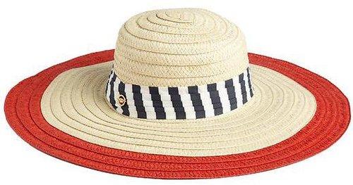 Juicy Couture Wide Brim Straw Sun Hat