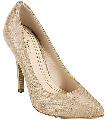 COLE HAAN Chelsea Snake-Embossed Leather Pumps