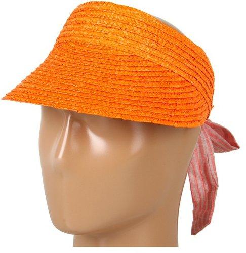 BCBGeneration - Wheat Straw Visor (Guava) - Hats