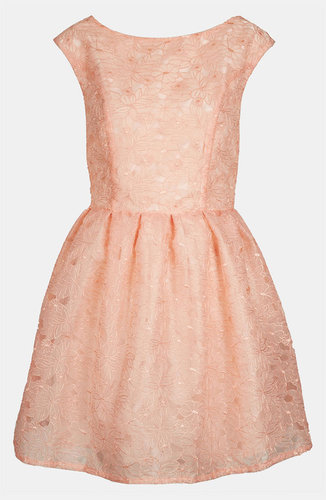 Topshop Floral Organza Party Dress