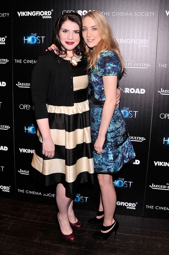 Photo of Stephenie Meyer & her friend actress  Saoirse Ronan -