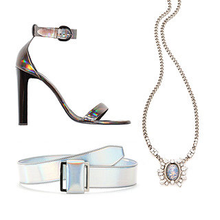 Accessories: Metallic, Iridescent, Holographic Shoes, Bags