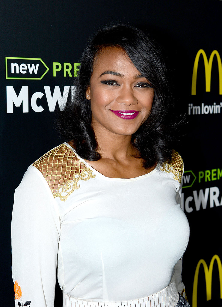 Tatyana Ali proved that black-rimmed eyes are the perfect complement to a bold lip.