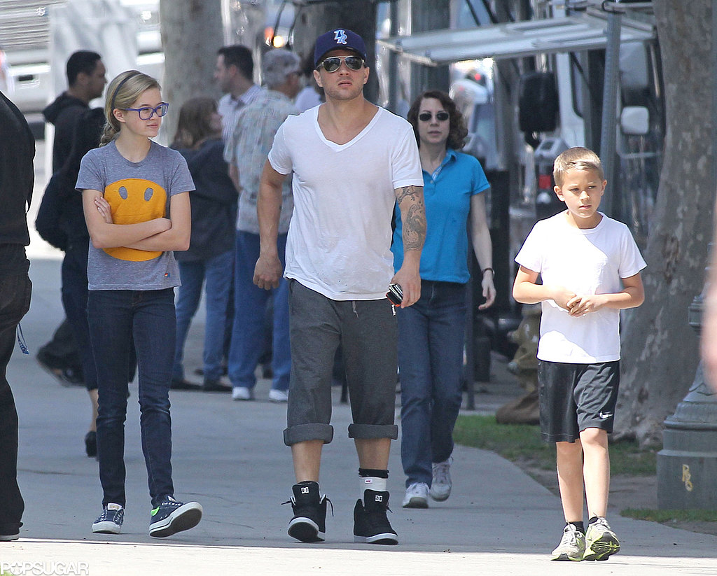 Ryan Phillippe grabbed lunch with his kids, Ava and Deacon, on Friday in LA.