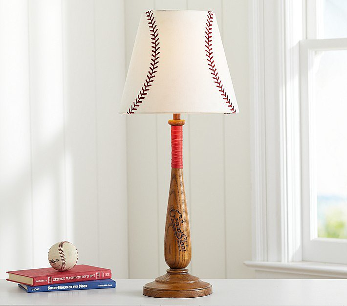 Pottery Barn's baseball shade ($35) offers a simple, sporty touch.