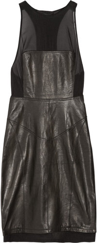 Alexander Wang Racer-back leather dress