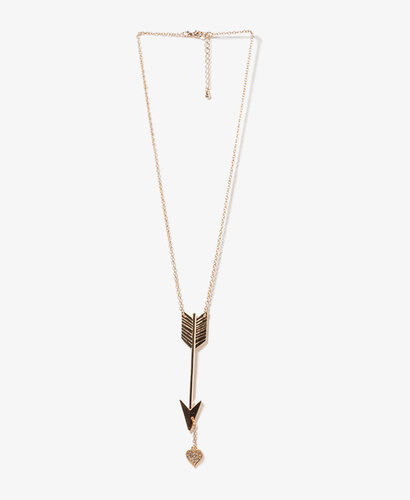 FOREVER 21 Arrow & Heart Necklace