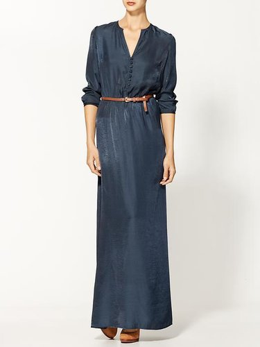 Sabine Sueded Belted Maxi Dress