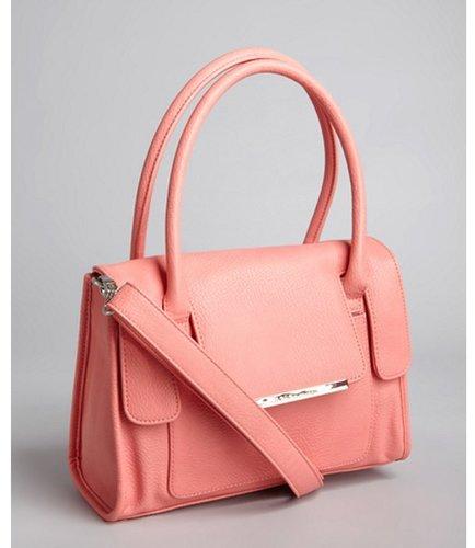 BCBGeneration sherbet pink faux leather convertible satchel