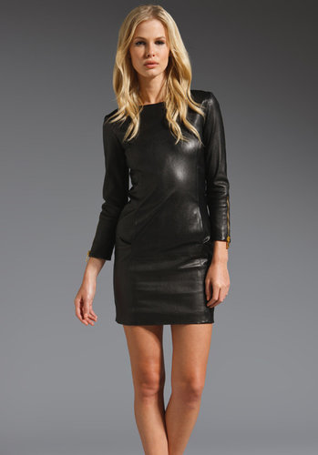 MAX FOWLES Leather Dress