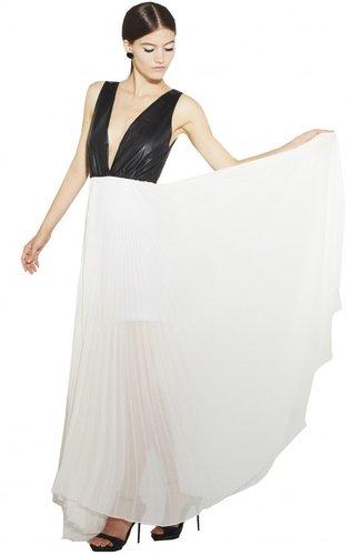 Luna Leather Bodice Dress