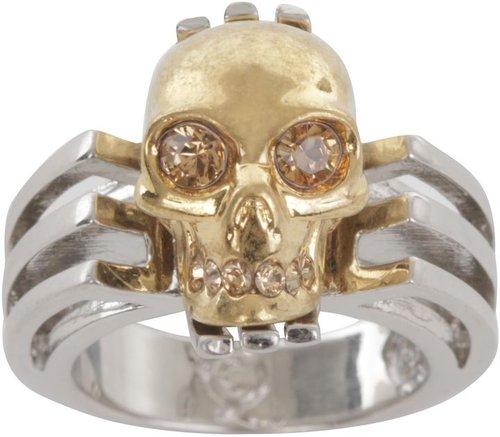Silver Art Deco Skull Ring