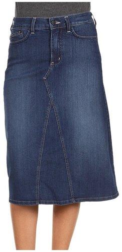 NYDJ - Stella Denim Mid-Calf Skirt in Long Beach (Long Beach Wash) - Apparel