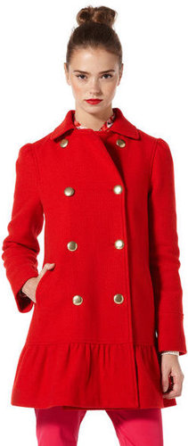 Eve Boucle Swing Coat With Peplum