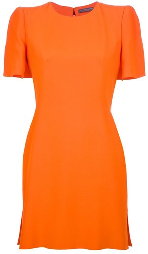 Alexander McQueen cape shift dress