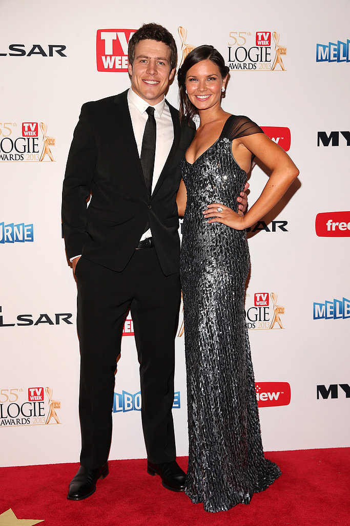Steve Peacocke Celebrates His Logies Win With His Girlfriend