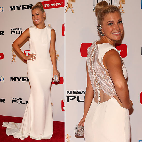 Pictures of Saskia Hampele in Leah de Gloria at 2013 Logies